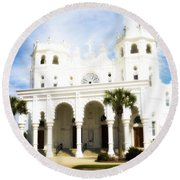 Ascension Sunday Round Beach Towel