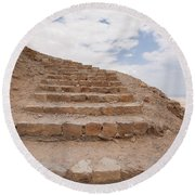 Round Beach Towel featuring the photograph Stairway To Heaven - Masada, Judean Desert, Israel by Yoel Koskas
