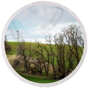 Ashes To Ashes Round Beach Towel