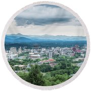 Asheville Afternoon Cropped Round Beach Towel
