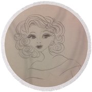Ashley Barbour Round Beach Towel