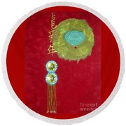 Asian Characters Icon No. 1 Round Beach Towel
