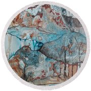 Ice And Fire Round Beach Towel