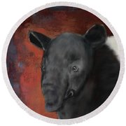Asian Tapir Round Beach Towel
