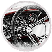 Asleep At The Wheel Round Beach Towel