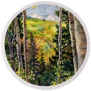 Aspen Afternoon Round Beach Towel