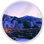 Aspen, Colorado, Usa Round Beach Towel