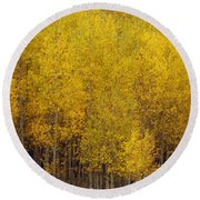 Aspen Fall 2 Round Beach Towel