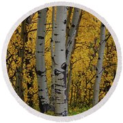 Aspen Golden Round Beach Towel