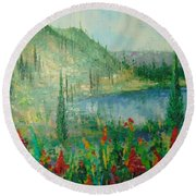 Aspen Lake Co Round Beach Towel
