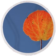 Aspen Leaf 1 Round Beach Towel