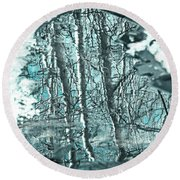 Aspen Reflection Round Beach Towel