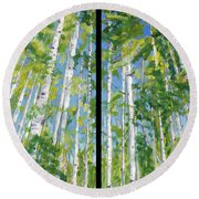 Aspen Twin Perspectives Round Beach Towel