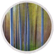 Aspens In Springtime Round Beach Towel