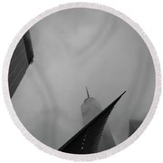 Round Beach Towel featuring the photograph Aspire by Alex Lapidus