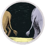 Asses Round Beach Towel