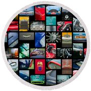 Aston Martin Art -01 Round Beach Towel