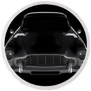 Aston Martin Db5 - Front View Round Beach Towel