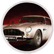 Aston Martin Db5 Round Beach Towel