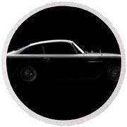 Aston Martin Db5 - Side View Round Beach Towel