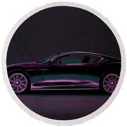 Aston Martin Dbs V12 2007 Painting Round Beach Towel