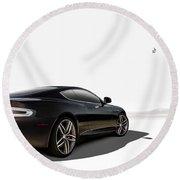 Aston Martin Virage Round Beach Towel