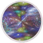 Astral Anomaly Round Beach Towel
