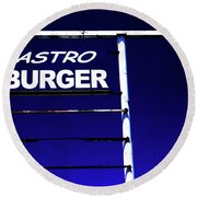 Round Beach Towel featuring the photograph Astro Burger by Jim and Emily Bush