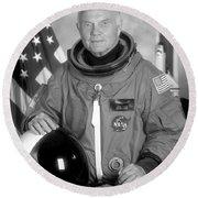Astronaut John Glenn Round Beach Towel