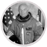 Astronaut John Glenn - 1998 Round Beach Towel