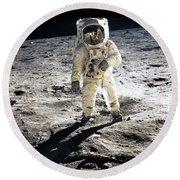 Astronaut Round Beach Towel