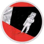 Astronaut X37b Round Beach Towel