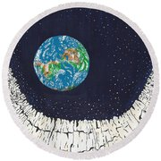 Astronaut's Point Of View Round Beach Towel