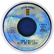 asylum Records and the Eagles Round Beach Towel