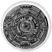 Asymmetry Round Beach Towel