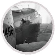 At-11 In Black And White - 2017 Christopher Buff, Www.aviationbuff.com Round Beach Towel
