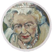 At Age Still Reigning Round Beach Towel