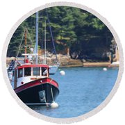 At Anchor Round Beach Towel