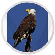 At Attention Round Beach Towel