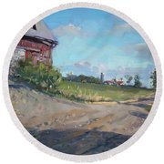 At Barn In Georgetown On Round Beach Towel