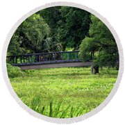 Round Beach Towel featuring the photograph At City Park 2 by Nicholas Blackwell