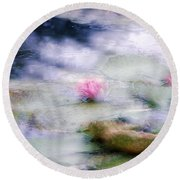 At Claude Monet's Water Garden 12 Round Beach Towel