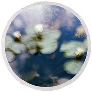 At Claude Monet's Water Garden 4 Round Beach Towel