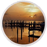 At Day's Close Round Beach Towel