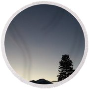 At Dusk Round Beach Towel by Jewel Hengen