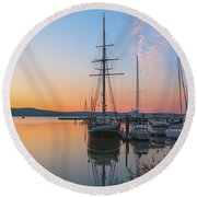 At Rest At Dawn Round Beach Towel