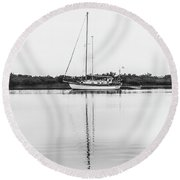 At Rest Round Beach Towel