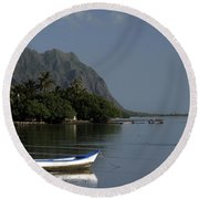 At Rest, Oahu Round Beach Towel