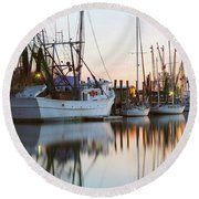 At Rest - Shem Creek Round Beach Towel