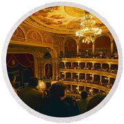 At The Budapest Opera House Round Beach Towel